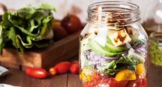 How to make mason jar salad cover